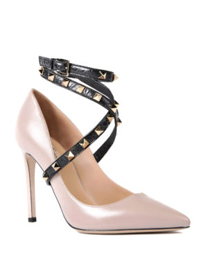 Valentino Garavani: court shoes online - Rockstud ankle strap pumps