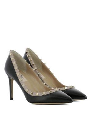 Valentino Garavani: court shoes online - Rockstud black leather pumps