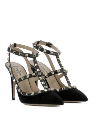 Valentino Garavani: court shoes online - Rockstud black suede pumps