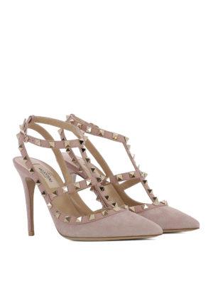 Valentino Garavani: court shoes online - Rockstud suede and leather pumps