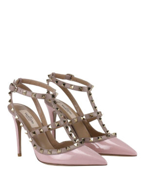 Valentino Garavani: court shoes online - Rockstud two-tone slingback pumps