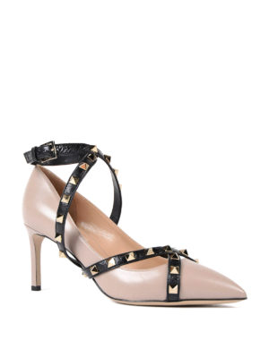 Valentino Garavani: court shoes online - Studded strap leather pumps