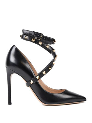 Valentino Garavani: court shoes - Rockstud ankle strap pumps