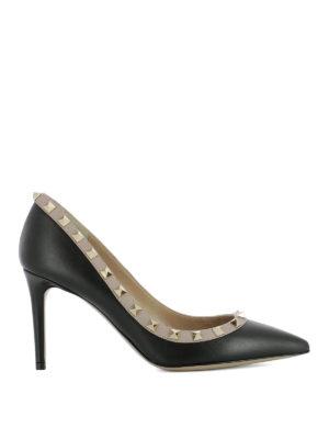 Valentino Garavani: court shoes - Rockstud black leather pumps