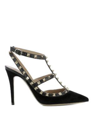 Valentino Garavani: court shoes - Rockstud black suede pumps