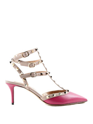 Valentino Garavani: court shoes - Rockstud leather pumps