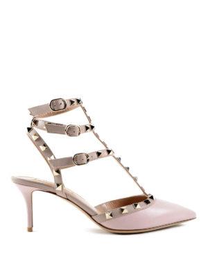 Valentino Garavani: court shoes - Rockstud leather pumps