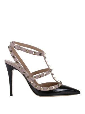 Valentino Garavani: court shoes - Rockstud two-tone slingback pumps