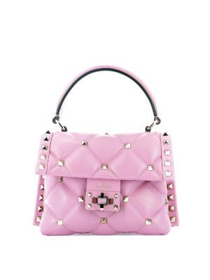 VALENTINO GARAVANI  borse a tracolla - Borsa Candystud mini in pelle rosa  confetto b42c15ce5f4