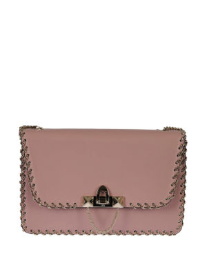 Valentino Garavani: cross body bags - Demilune small chain cross body bag
