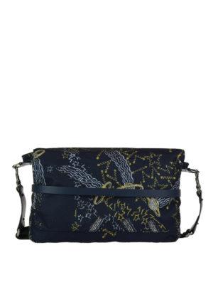 VALENTINO GARAVANI: borse a tracolla - Tracolla in tessuto stampa Galaxy
