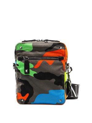 cdca7c87b88 VALENTINO GARAVANI: borse a tracolla - Borsa a tracolla camouflage  multicolor