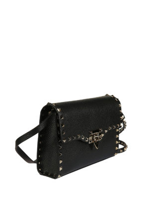 Valentino Garavani: cross body bags online - Rockstud small black cross body bag
