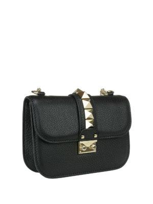 Valentino Garavani: cross body bags online - Stud detail leather cross body bag