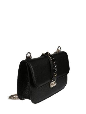 Valentino Garavani: cross body bags online - Studded flap leather cross body bag