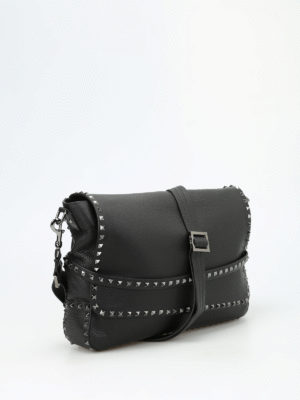 Valentino Garavani: cross body bags online - Studded leather messenger bag
