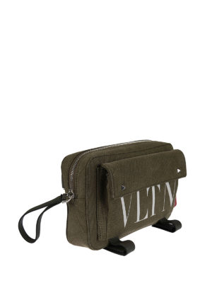Valentino Garavani: cross body bags online - VLTN canvas cross body bag
