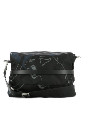 Valentino Garavani: cross body bags - Panther printed fabric bag