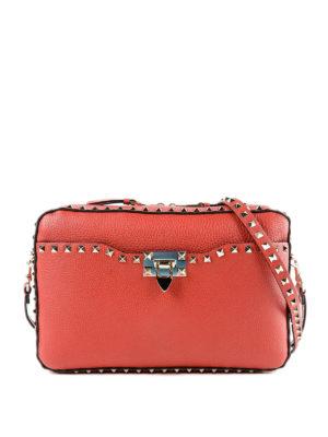VALENTINO GARAVANI: borse a tracolla - Crossbody Rockstud rossa