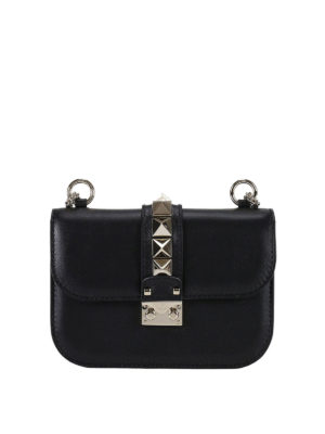 Valentino Garavani: cross body bags - Rockstud Lock small cross body bag