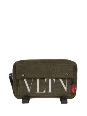 Valentino Garavani: cross body bags - VLTN canvas cross body bag