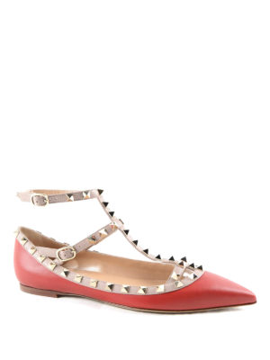 Valentino Garavani: flat shoes online - Rockstud ballerinas