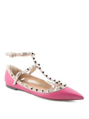 Valentino Garavani: flat shoes online - Rockstud flat shoes