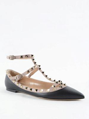 Valentino Garavani: flat shoes online - Rockstud flats