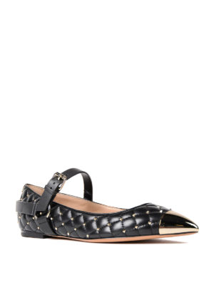 Valentino Garavani: flat shoes online - Rockstud Spike flat shoes