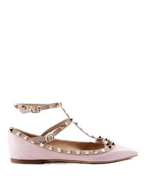 Valentino Garavani: flat shoes - Rockstud flat shoes