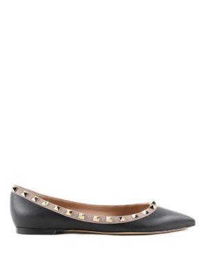 Valentino Garavani: flat shoes - Rockstud flats