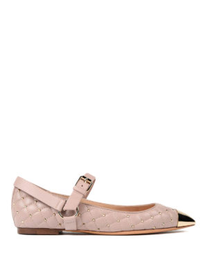 Valentino Garavani: flat shoes - Rockstud Spike flat shoes