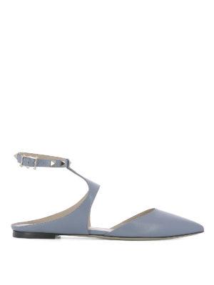 Valentino Garavani: flat shoes - Studded slingback flats