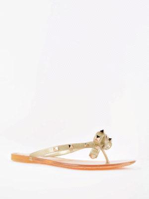 Valentino Garavani: flip flops online - Rockstud PVC thong sandals