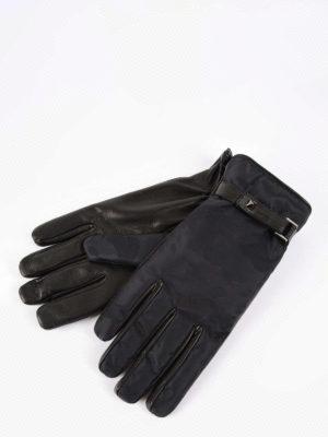 Valentino Garavani: gloves online - Rockstud camouflage gloves