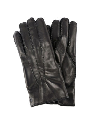Valentino Garavani: gloves - Rockstud leather gloves