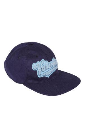 Valentino Garavani: hats & caps - Logo embellished blue baseball cap