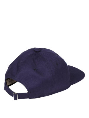 Valentino Garavani: hats & caps online - Logo embellished blue baseball cap