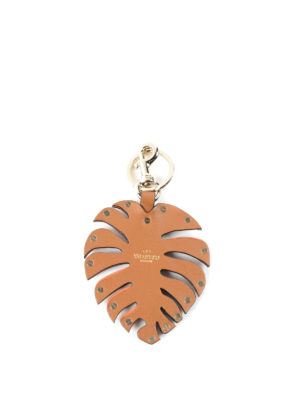 Valentino Garavani: key holders online - Rockstud leaf bag charm
