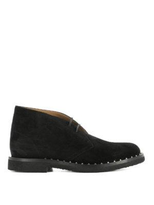 Valentino Garavani: lace-ups shoes - Black suede desert boots