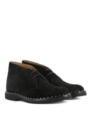 Valentino Garavani: lace-ups shoes online - Black suede desert boots