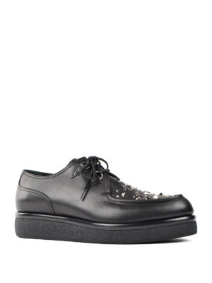 Valentino Garavani: lace-ups shoes online - Stud embellished Derby shoes