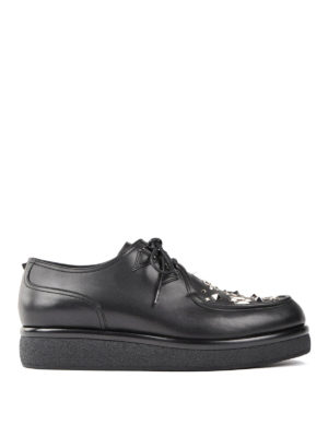 Valentino Garavani: lace-ups shoes - Stud embellished Derby shoes