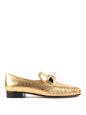 Valentino Garavani: Loafers & Slippers - Macro studs detail loafers