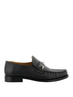 VALENTINO GARAVANI: Mocassini e slippers - Mocassini in nappa con maxi borchie