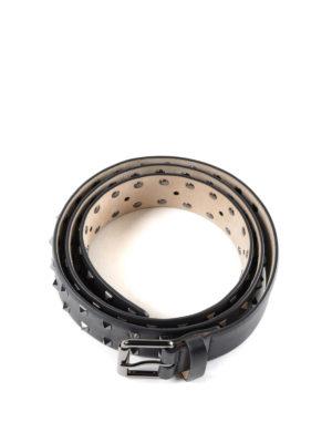 VALENTINO GARAVANI: cinture online - Cintura nera Rockstud in pelle