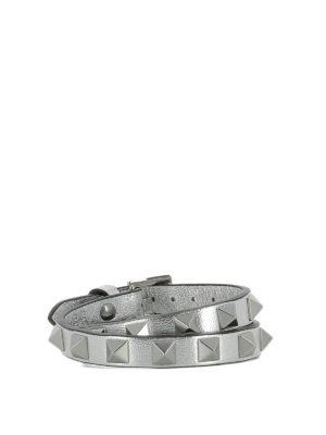 VALENTINO GARAVANI: Bracciali e Braccialetti online - Bracciale in pelle con borchie