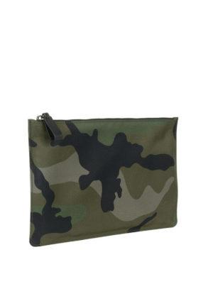 VALENTINO GARAVANI: pochette online - Clutch camouflage verdone