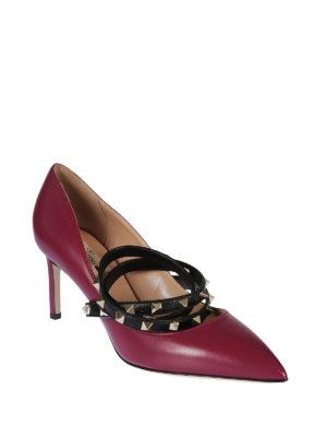 VALENTINO GARAVANI: scarpe décolleté online - Décolleté Studwrap in pelle