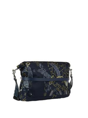 VALENTINO GARAVANI: borse a tracolla online - Tracolla in tessuto stampa Galaxy